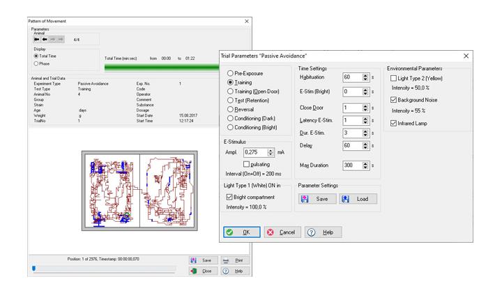 Passive Avoidance software data visualisation