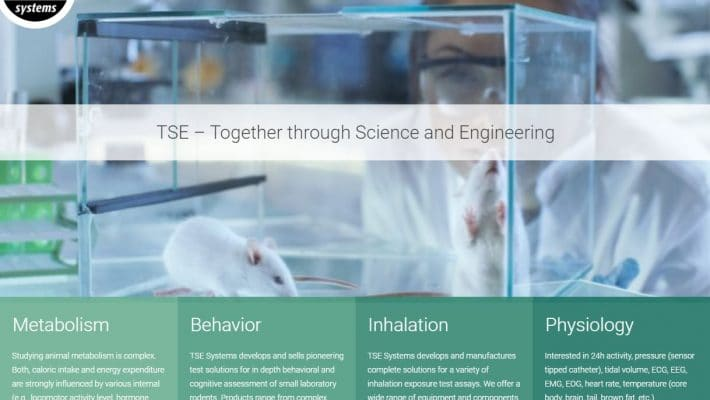 TSE Systems relaunched website in new corporate color